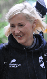 Katrin Freyberg von den Hyzernauts startete am Gögerl fulminant ins Turnier.