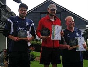 Die Open-Sieger der Bad Fredeburg Open: 1. Dennis Possen (M.), 2. Lukas Meier (l.) und 3. Sven Heiken.